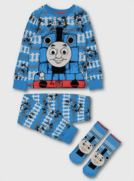 Thomas The Tank Engine Blue Pyjamas & Socks