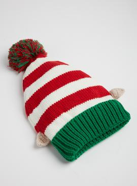 Christmas Multicoloured Striped Elf Hat