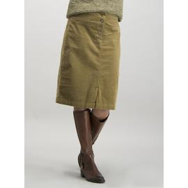 Olive Green Needlecord Pencil Skirt