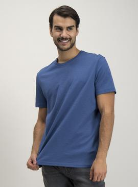 Blue Crew Neck Relaxed Fit T-Shirt