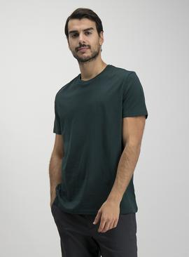 Dark Green Crew Neck Relaxed Fit T-Shirt