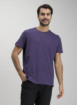 Purple Crew Neck Relaxed Fit T-Shirt