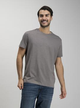 Grey Crew Neck Relaxed Fit T-Shirt