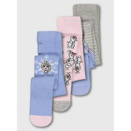 Disney Frozen 2 Multicoloured Tights 3 Pack