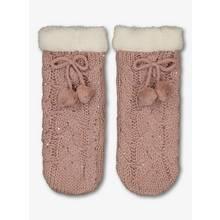 Pink Knitted Cosy Slipper Socks - 12.5-3.5