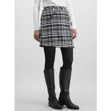 Monochrome Check Asymmetric Skirt