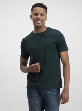 Dark Green Plain T-Shirt