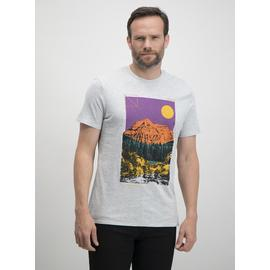 Grey Marl Mountain Graphic Relaxed Fit T-Shirt