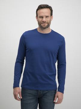 Royal Blue Plain Long Sleeve T-Shirt