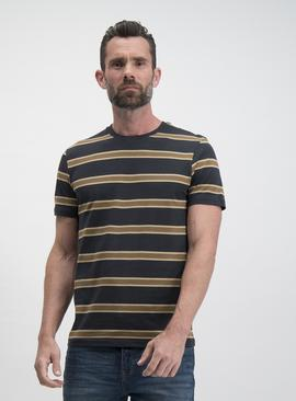 Black & Tan Stripe Regular Fit T-Shirt