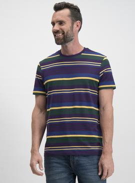 Online Exclusive Purple Stripe Regular Fit T-Shirt