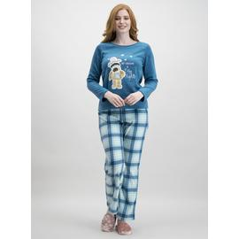 Christmas Boofle Teal Fleece Pyjamas