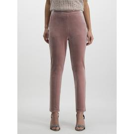 Online Exclusive Dusky Pink Velvet Trousers