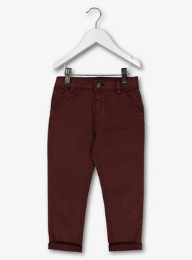 Burgundy Slim Fit Chinos