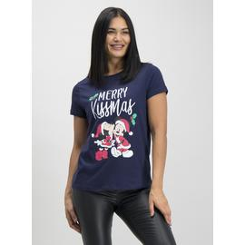 Christmas Disney Mickey Mouse Navy T-Shirt