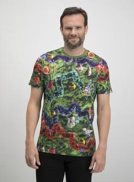Christmas Mini Me Multicoloured Tinsel T-Shirt
