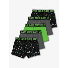 Green Assorted Gamer Trunks 5 Pack