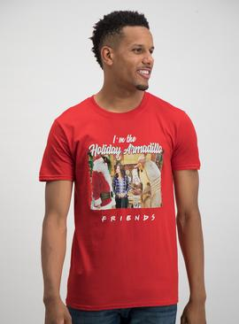 Christmas 'Friends' Red Armadillo Graphic T-Shirt