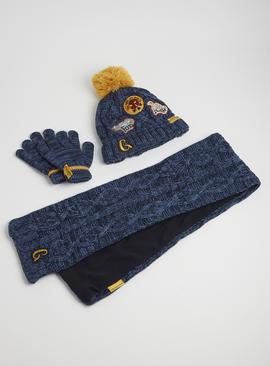 The Gruffalo Blue Knitted Hat, Scarf & Gloves