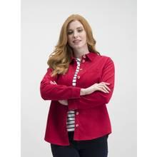 Berry Red Corduroy Shirt