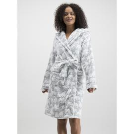 Grey Polar Bear Dressing Gown