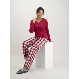 Christmas Red Check Henley Pyjamas
