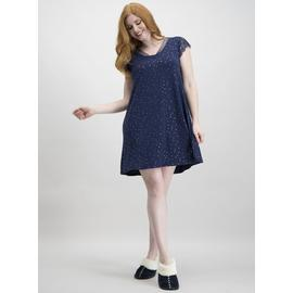 Navy Metallic Spot Soft Touch Nightdress