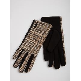 Brown & Black Check Gloves
