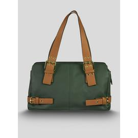 Green & Tan Buckle Bag - One Size