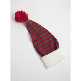 Christmas Red & Green Stripe Elf Hat - One Size