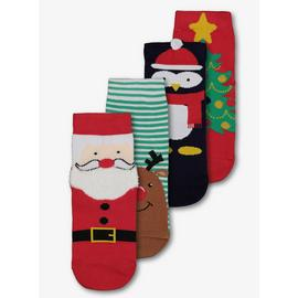 Christmas Multicoloured Sock 4 Pack