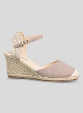 Online Exclusive Taupe Closed Toe Wedge Sandal