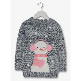 Christmas Light & Sound Snowman Jumper