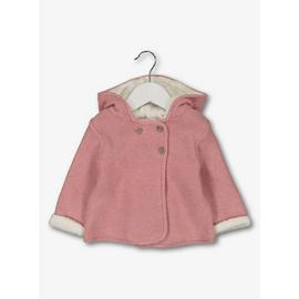 Dusky Pink Knitted Faux Fur Lined Cardigan