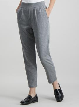 Grey Herringbone Pocket Detail Leggings