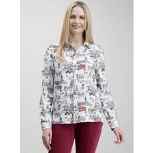 Multicoloured London Print Button Through Shirt