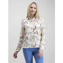 Online Exclusive Cream Horse Print Western Shirt