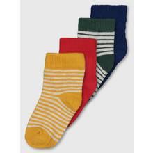Multicoloured Stripe & Texture Socks 4 Pack
