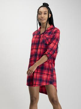 Red Check Boyfriend Nightshirt