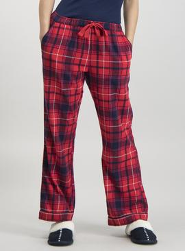 Red Check Woven Pyjama Bottoms