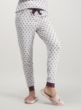 Grey Spotty Cuffed Pyjama Bottoms - 6