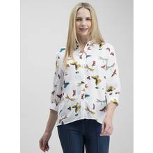 Multicoloured Butterfly Print Oversized Shirt