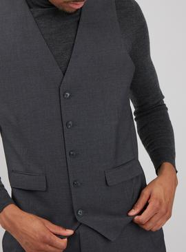 Grey Dogtooth Tailored Fit Waistcoat
