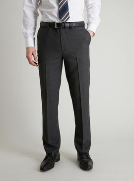 Grey Dogtooth Tailored Fit Suit Trousers