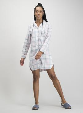 Multicoloured Pastel Check Nightshirt