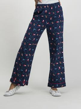Christmas Navy Nutcracker Print Pyjama Bottoms