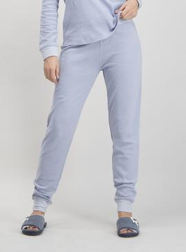 Pale Blue Spot Print Pyjama Bottoms