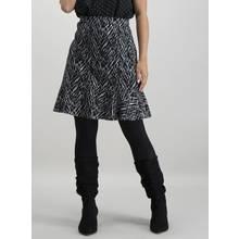 PETITE Monochrome Printed Ruffle Hem Skirt