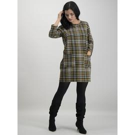 PETITE Multicoloured Brushed Check Shift Dress