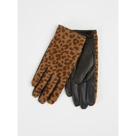 TOTES ISOTONER Leopard Print Soft Lined Fabric Gloves